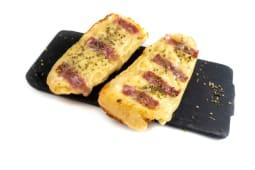 Pão de Alho com Queijo e Bacon