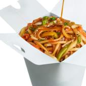 ლაფშა ბოსტნეულით ტერიაკის სოუსში/Vegetable Noodles With Teriyaki Sauce