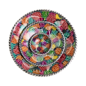 Soapstone Colourful Fish Plate Set