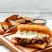 Waffle de Lomo a la Napolitana