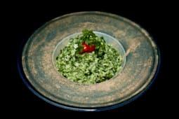 Rižoto spanać porcija (posno)
