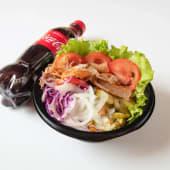 Kebab Paradise Salata regular (600ml) + Coca Cola