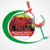 Вино Крісталло Россо напівсолодке червоне (1л)