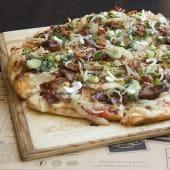 Pizza verdeo y panceta