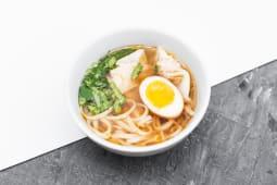 Гонконгський суп з локшиною та вонтонами (500г) *