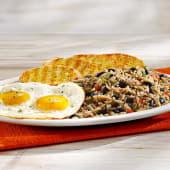 Desayuno completo con huevo frito o revuelto