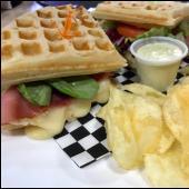 Sándwich waffle