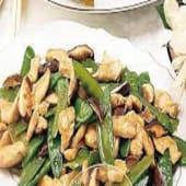 Chicken with Mushroom + Snow Peas