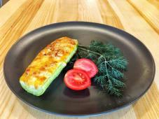 Кабачок, фарширований Курячим м'ясом й овочами (150г)