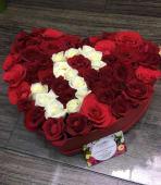 Box Roses Rouge et Blanc
