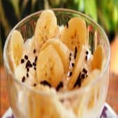 Frutillas o bananas con crema