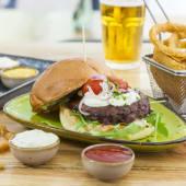 Healthy farmer burger