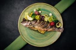 Сібас, запечений з овочами (450г)