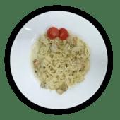 Спагеті з куркою та грибами (250г)