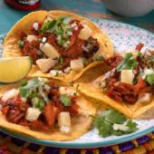 Menú tacos al pastor (3 uds.)