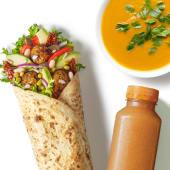 Zestaw Wrap Wege Falafel z zupą i sokiem
