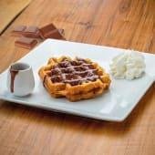 Waffle con cioccolato lattefuso