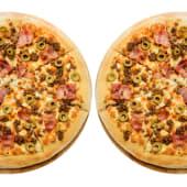 2 pizzas medianas (masa clásica)