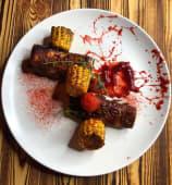 Свинні ребра з пряною кукурудзою та вишневим BBQ (450г)