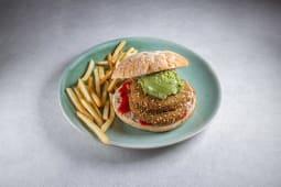 Burger La Vegana + patatas fritas