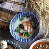 Юшка по-марсельськи з креветками, мідіями та дорадо (450г)
