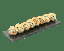 Гарячий рол з лососем и базиліком(245 г)