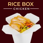 Panierowany filet z kurczaka z warzywami z ryżem