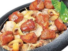 Сковорода зі свининою і грибами (220г)