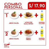 Arroz chaufa + pollo tipakay + gaseosa 1/2 litro
