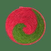Green/Red Weaved Basket