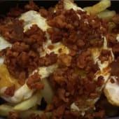 Huevos fritos con chichas de la matanza de León