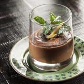 Mousse de chocolate con jengibre