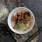 Курка теріякі з паровим рисом (200/100г)
