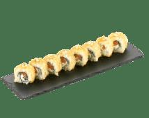 Ролл с копченым лососем, сыром филадельфия в кранчах темпура (190 г)