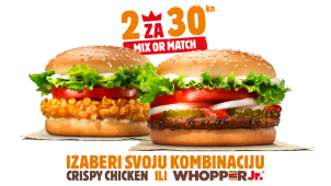 Whopper Jr + Crispy Chicken