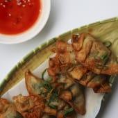 Wonton frito a la shanghainesa