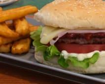 Hambúrguer Simples em Pão