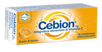 Cebion 1 g 10 compresse effervescenti gusto arancia
