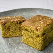 Bizcocho/Cake Casero Té Verde Matcha (porción)