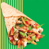 Grill chicken wrap