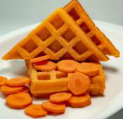 Waffles congelados de zanahoria