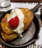 Baked stuffed potatoes