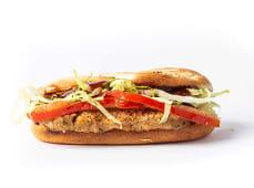 58 - Bife Salisbury, tomate, alface e molho BBQ
