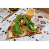 Pizza con tomate, alcachofa y rúcula (33 cm.)
