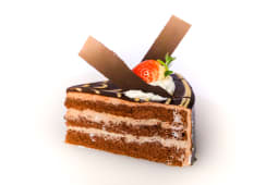 Mars cake slice