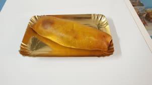 Panzerotto con ortaggi e mozzarella