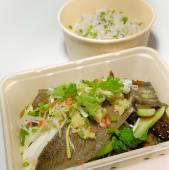 Sudado de pescado oriental