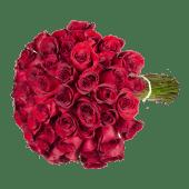 Ramo de 12 rosas rojas variado