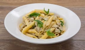 პენე სოკოთი/Penne with chicken and mushrooms