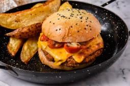 Sándwich de hamburguesa veggie